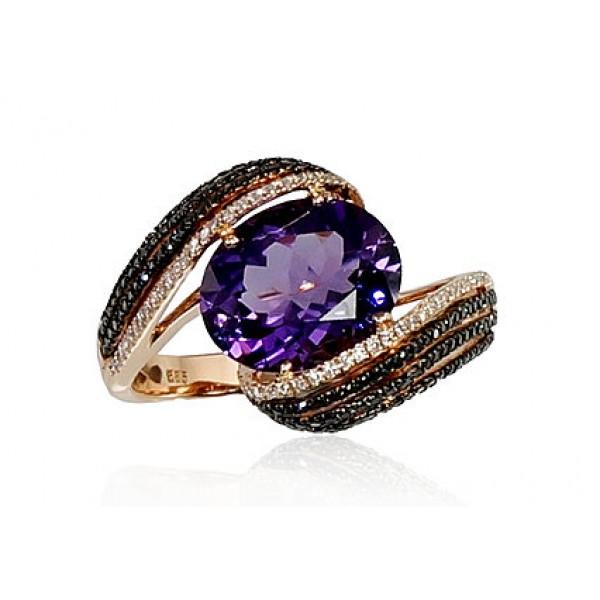 """Zelta gredzens ar briljantiem """"Zvaigznājs"""" no 585 proves sarkanā zelta"""