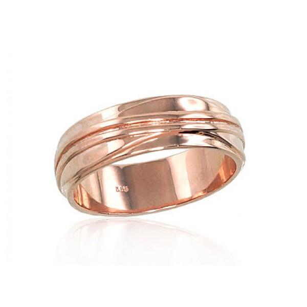 """Zelta laulības gredzens """"Harmonija"""" no 585 proves sarkanā zelta"""