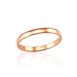 "Zelta laulības gredzens ""Klasika IV"" no 585 proves sarkanā zelta"