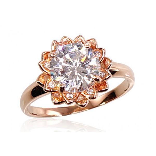 """Zelta gredzens """"Kristāla Zieds III"""" no 585 proves sarkanā zelta"""