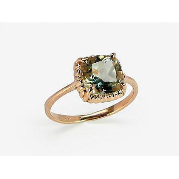 "Zelta gredzens ar ametistu ""Sicīlija II"" no 585 proves sarkanā zelta"