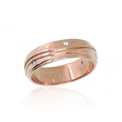"Zelta laulības gredzens ""Harmonija II"" no 585 proves sarkanā zelta"