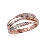 "Zelta gredzens ar briljantiem ""Zelta Raksts II"" no 585 proves sarkanā zelta"
