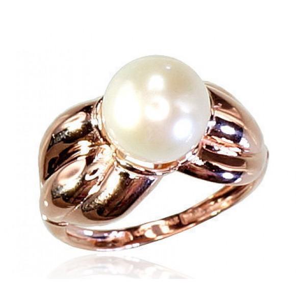 "Zelta gredzens ar pērlēm ""Galoss IX"" no 585 proves sarkanā zelta"