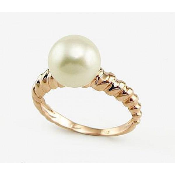 """Zelta gredzens ar pērlēm """"Dvēseles Spogulis X"""" no 585 proves dzeltenā zelta"""