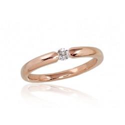 """Zelta gredzens ar briljantiem """"Jaunā Klasika II"""" no 585 proves sarkanā zelta"""