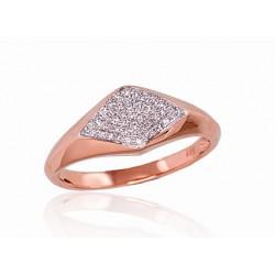 "Zelta gredzens ar briljantiem ""Melisandra II"" no 585 proves sarkanā zelta"