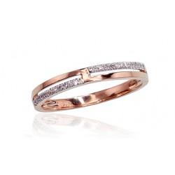 "Zelta gredzens ar briljantiem ""Babilona III"" no 585 proves sarkanā zelta"