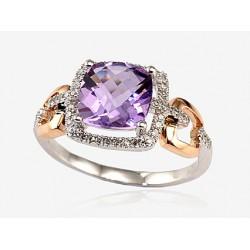 "Zelta gredzens ar briljantiem ""Princese"" no 585 proves sarkanā zelta"