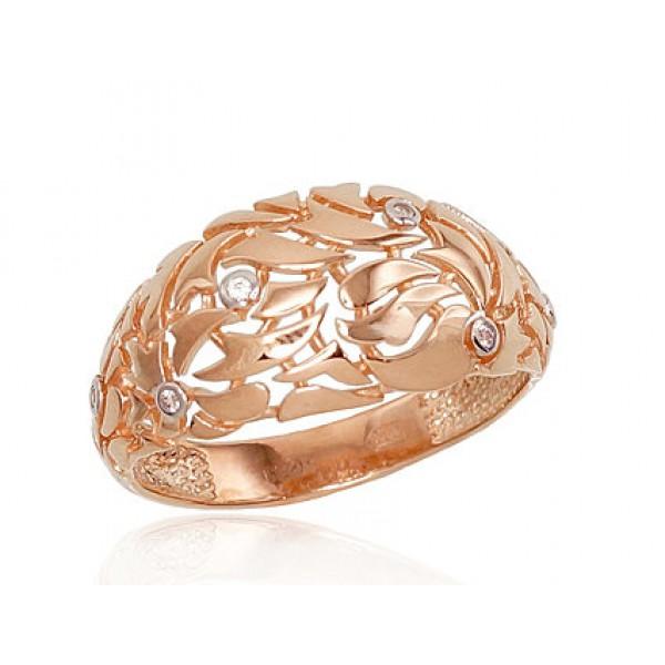 "Zelta gredzens ""Impērija"" no 585 proves sarkanā zelta"