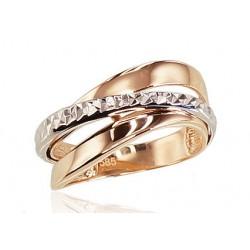 """Zelta gredzens """"Zelta Raksts XII"""" no 585 proves sarkanā zelta"""