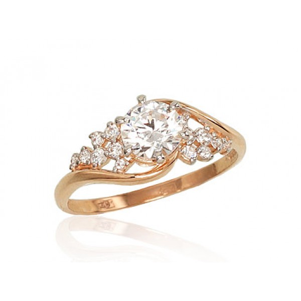 "Zelta gredzens ""Aleksa II"" no 585 proves sarkanā zelta"
