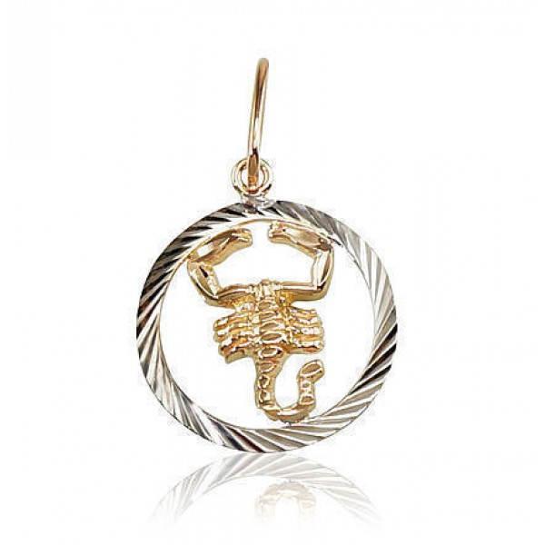 "Zelta kulons - zodiaka zīme ""Skorpions II"" no 585 proves sarkanā zelta"