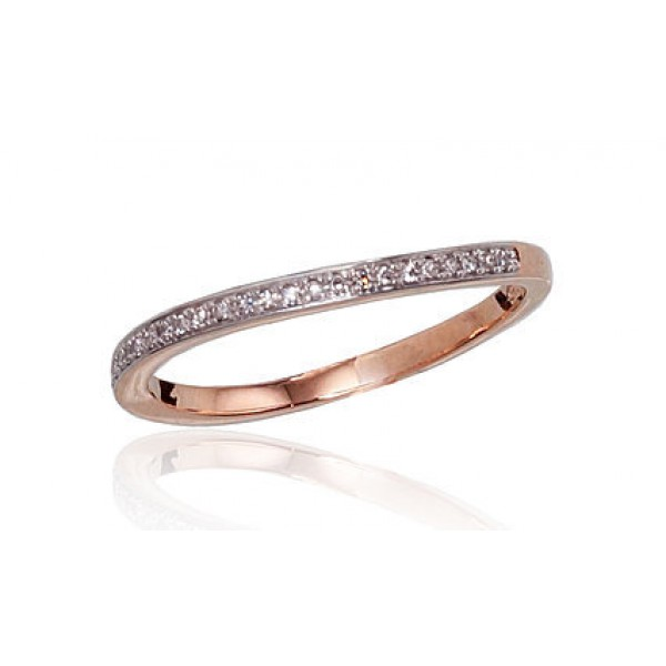 "Zelta gredzens ar briljantiem ""Babilona"" no 585 proves sarkanā zelta"