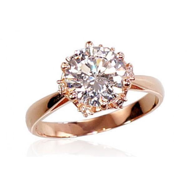 """Zelta gredzens """"Kristāla Zieds IV"""" no 585 proves sarkanā zelta"""
