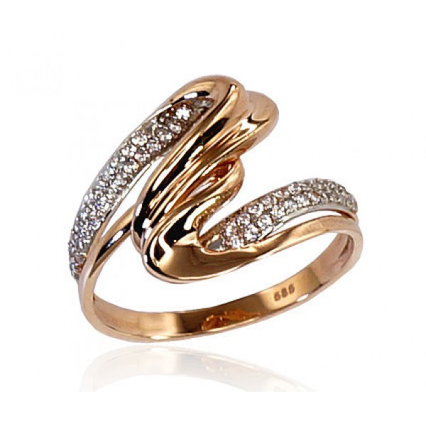 "Zelta gredzens ""Jūras Vilnis VI"" no 585 proves sarkanā zelta"