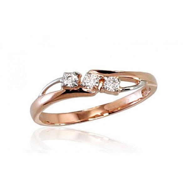 """Zelta gredzens """"Zelta Mīlestība"""" no 585 proves sarkanā zelta"""