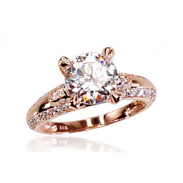 """Zelta gredzens """"Junona Gold III"""" no 585 proves sarkanā zelta"""