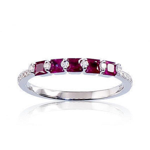 """Zelta gredzens ar briljantiem """"Zelta Mīlestība X"""" no 585 proves baltā zelta"""