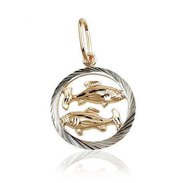"Zelta kulons - zodiaka zīme ""Zivis II"" no 585 proves sarkanā zelta"
