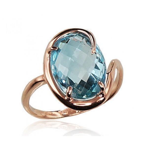 "Zelta gredzens ar topāzu ""Palermo II"" no 585 proves sarkanā zelta"