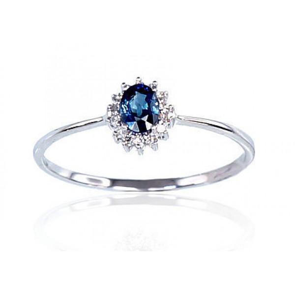 "Zelta gredzens ar briljantiem ""Ferro"" no 585 proves baltā zelta"