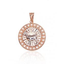 """Zelta kulons - zodiaka zīme """"Mežāzis"""" no 585 proves sarkanā zelta"""
