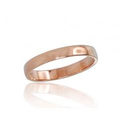 "Zelta laulības gredzens ""Klasika"" no 585 proves sarkanā zelta"