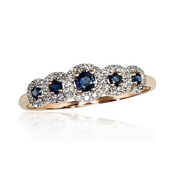 "Zelta gredzens ar briljantiem ""Dženija V"" no 585 proves sarkanā zelta"
