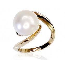 "Zelta gredzens ar pērlēm ""Galoss XIII"" no 585 proves dzeltenā zelta"