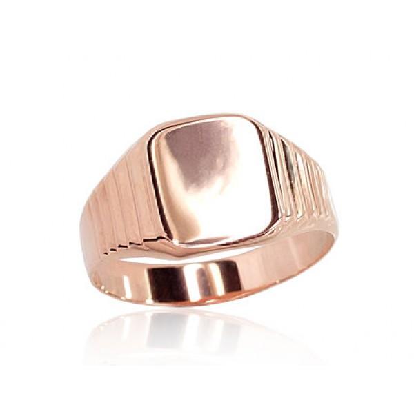 """Vīriešu zelta gredzens """"Augstmanis"""" no 585 proves sarkanā zelta"""
