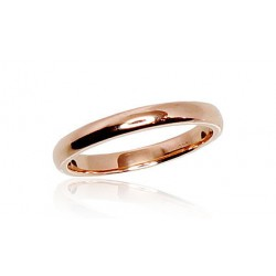 "Zelta laulības gredzens ""Klasika V"" no 585 proves sarkanā zelta"