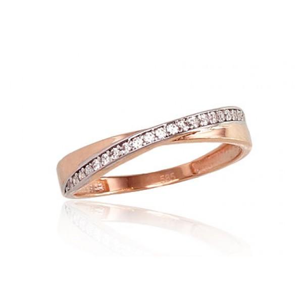 """Zelta gredzens """"Džoanna V"""" no 585 proves sarkanā zelta"""