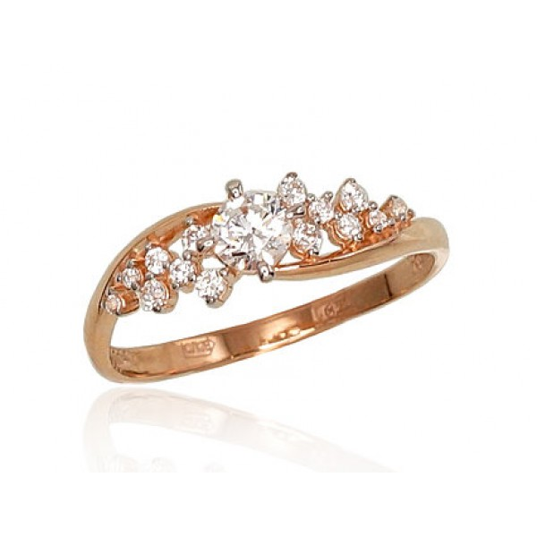 "Zelta gredzens ""Aleksa III"" no 585 proves sarkanā zelta"
