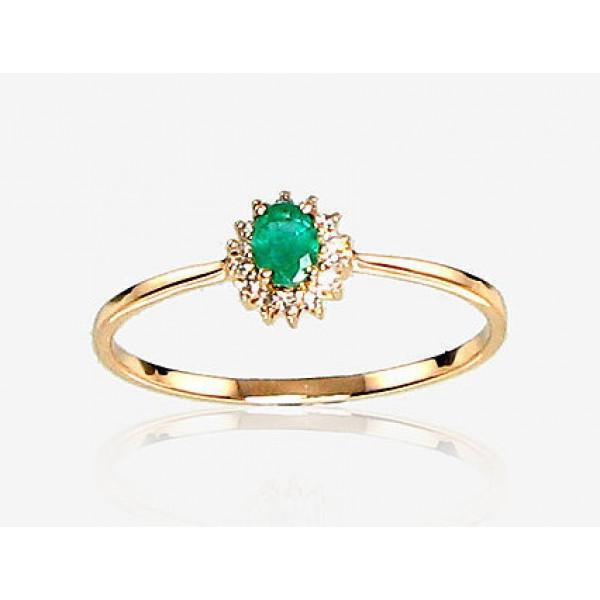 "Zelta gredzens ar briljantiem ""Ferro VIII"" no 585 proves sarkanā zelta"