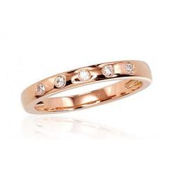 """Zelta gredzens ar briljantiem """"Tokija"""" no 585 proves sarkanā zelta"""