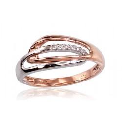 "Zelta gredzens ar briljantiem ""Zelta Raksts V"" no 585 proves sarkanā zelta"