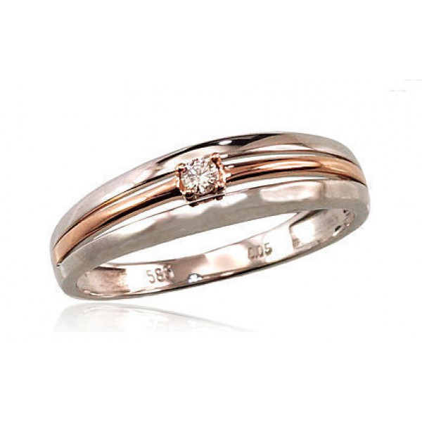 """Zelta gredzens ar briljantiem """"Pompejas"""" no 585 proves sarkanā zelta"""