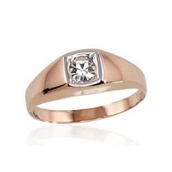 """Vīriešu zelta gredzens """"Augstmanis III"""" no 585 proves sarkanā zelta"""
