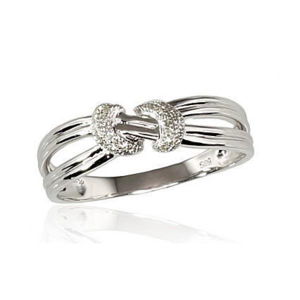 "Zelta gredzens ar briljantiem ""Omega IV"" no 585 proves baltā zelta"