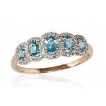 """Zelta gredzens ar briljantiem """"Dženija IX"""" no 585 proves sarkanā zelta"""