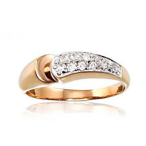 """Zelta gredzens """"Vorteks"""" no 585 proves sarkanā zelta"""