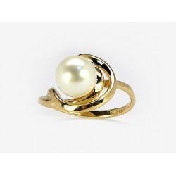 "Zelta gredzens ar pērlēm ""Galoss XVII"" no 585 proves dzeltenā zelta"