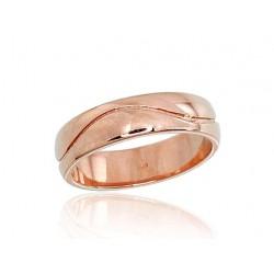 "Zelta laulības gredzens ""Harmonija V"" no 585 proves sarkanā zelta"