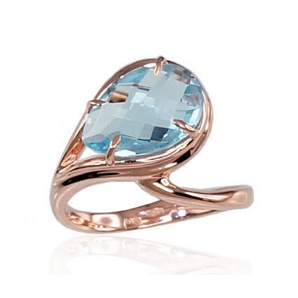 "Zelta gredzens ar topāzu ""Tereza"" no 585 proves sarkanā zelta"