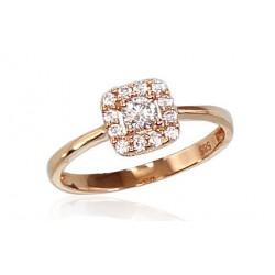 """Zelta gredzens """"Dženija VI"""" no 585 proves sarkanā zelta"""