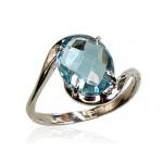 """Zelta gredzens ar topāzu """"Komēta IX"""" no 585 proves baltā zelta"""