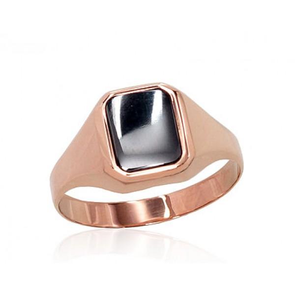 """Vīriešu zelta gredzens ar oniksu """"Barons IV"""" no 585 proves sarkanā zelta"""