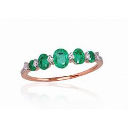 """Zelta gredzens ar briljantiem """"Versaļa"""" no 585 proves sarkanā zelta"""