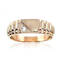 """Vīriešu zelta gredzens """"Augstmanis IV"""" no 585 proves sarkanā zelta"""